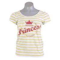 Baby Look Graphic Princess  - Branco / Amarelo